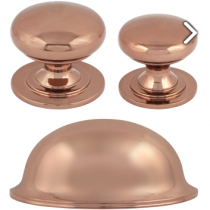 Rose Gold Cup Handle and Knob Collection available in a selection of sizes