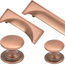 Windsor Rose Gold Cup Handle & Knob Collection available in a selection of sizes