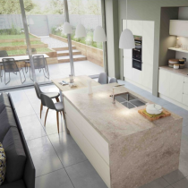 Handleless Kitchen, Large Island with sink