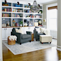 Home Library idea, classical setting shelving and storage
