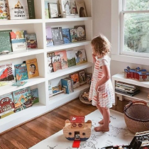Home Library idea, as part of a palayroom, contemporary style