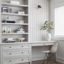 Home office classical design single desk and storage