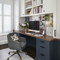 Home office idea classical design shaker two colours