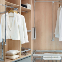 Wardrobe Pull out rails for hanging clothing