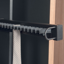 Wardrobe side mounted tie rack