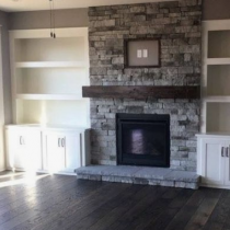 TV Stand idea, classical design, fireplace, mantle surround.