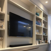 TV Stand idea,contemporary shelves and drawers.