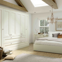 Wardrobe Shaker door, console table, bedside lockers, bed frame, wardrobe available either built in or free standing