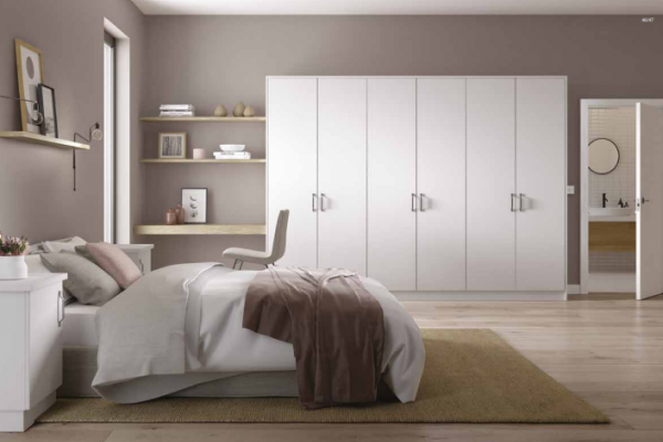 Contemporary style wardrobes, designed and custom built for your bedroom