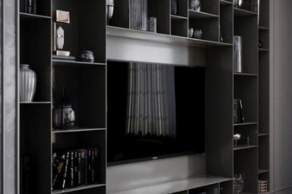 TV Stand idea, contemporary shelving