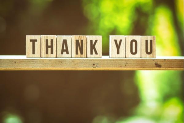 Testimonial thank you